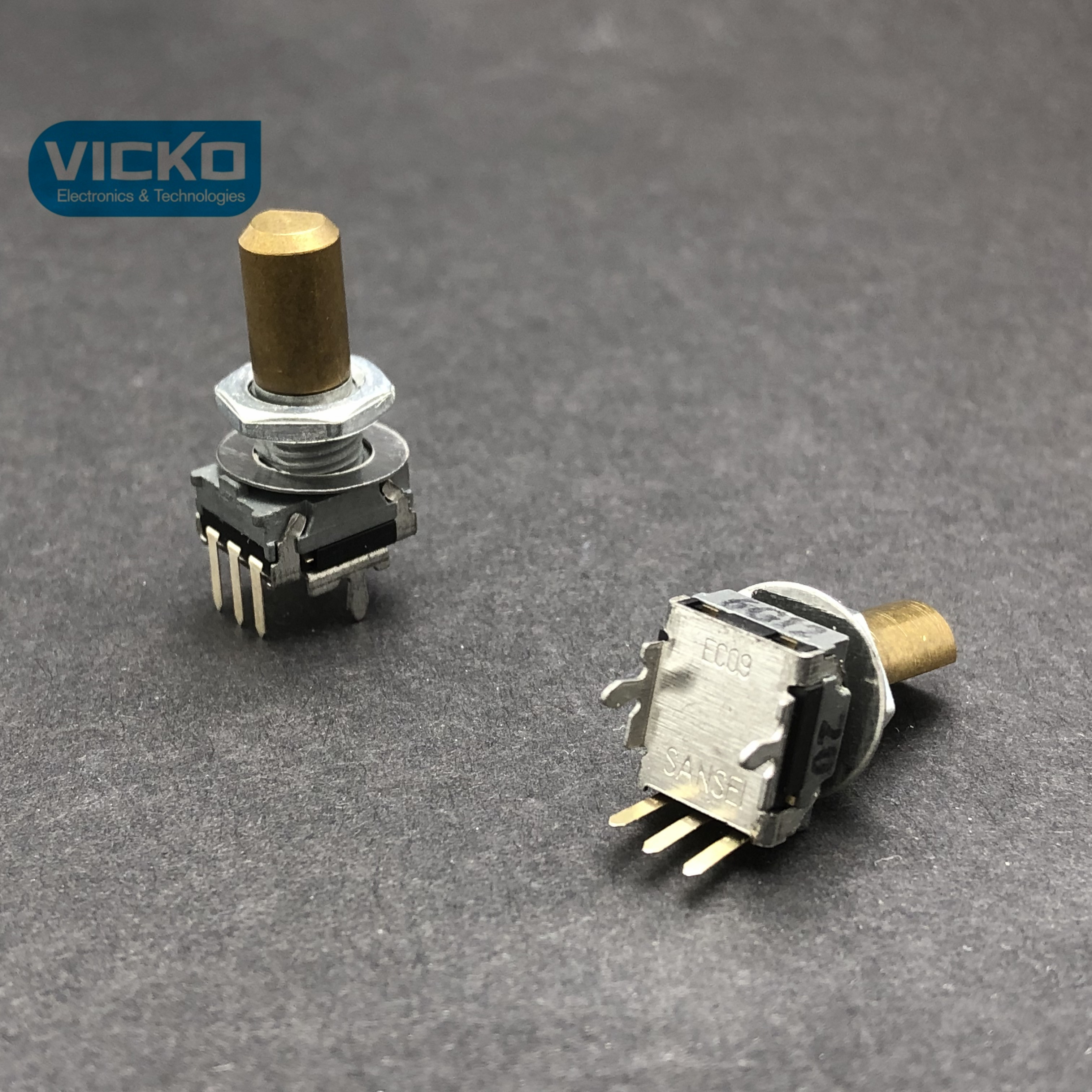 Japan SANSEI EC09 EC09P20 205B Type Encoder with Stepping 20 Point Vertical Handle 16MM switch 3