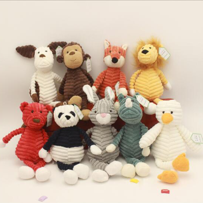 New Baby Elephant Lion Fox Rabbit Pig Panda Duck Monkey Soft Stuffed Toys Cute Torest Animal Plush Toy For Kids