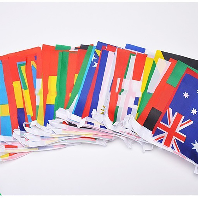 32 Striker Qualifiers Team Flag Bar Fans Decorated 32 Strong Watermark Double-sided Fade String Flags New