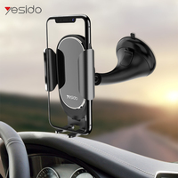 Yesido C52 Acrylic mirror panel Car Phone Holder For iPhone XS Samsung S9 Suction Cup Car Mount Holder Windshield Phone Holder