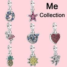 Breloques en argent Sterling 2020, perles mon flamant rose, Micro pendantes, adaptées aux bracelets Pandora me originaux, cadeau de bijoux, nouvelle collection 925