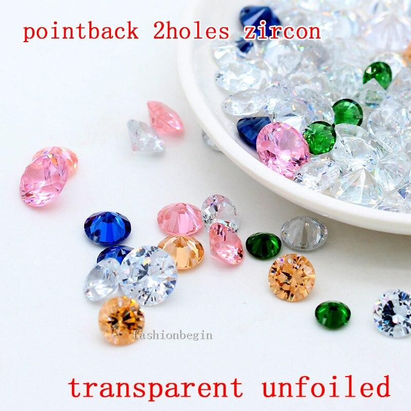 30pcs Colorful Crystal Glass Big Hole Beads Fit Charm Bracelet S19