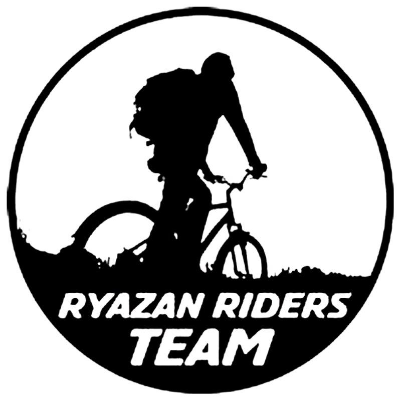 CK3255#15*15cm RYAZAN RIDERS TEAM Reflective Funny Car Sticker Vinyl Decal Waterproof Car Auto Stickers Silver/ Black For Bumper