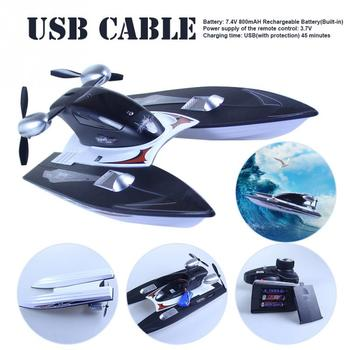 2.4GHz 35km/h With Cable RC Boat High Speed Lake Kids Adults Multifunction Pool USB Rechargeable Hobby Remote Control Gifts