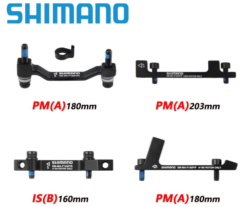 <font><b>SHIMANO</b></font> SM-MA Brake <font><b>ROTOR</b></font> DISC Adapter <font><b>180mm</b></font> 203mm 160mm PM A Pillars IS B Pillars Brake Disc Bracket adapter For RT86 RT81 RT56 image