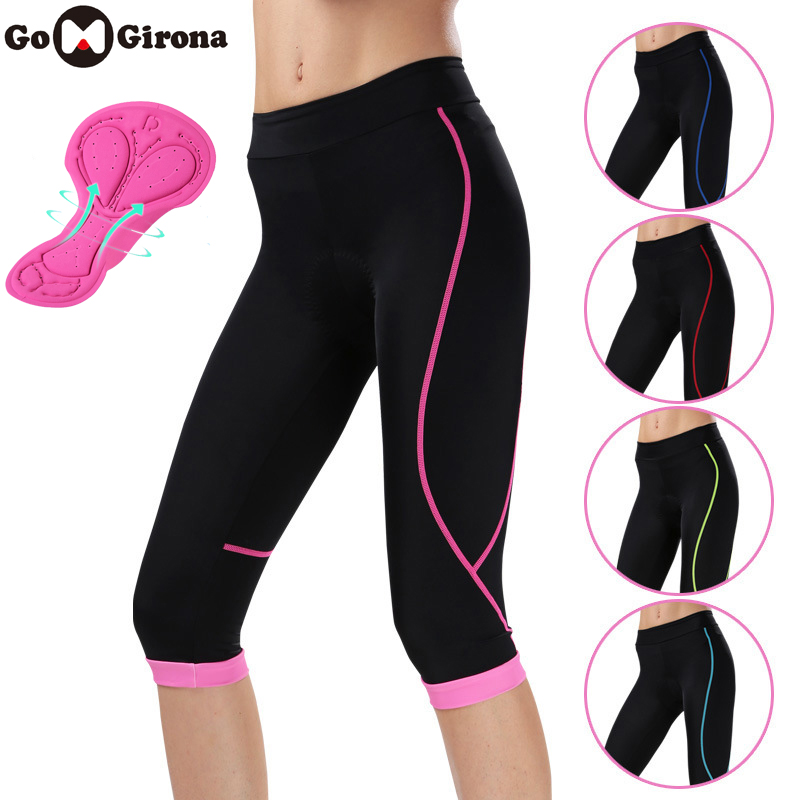 New Arrival Mtb Road Bike 3/4 Pants Women Bicycle Short Sport Bycycle Tights 3D Gel Padded Cycling Pants Female Culote Ciclismo
