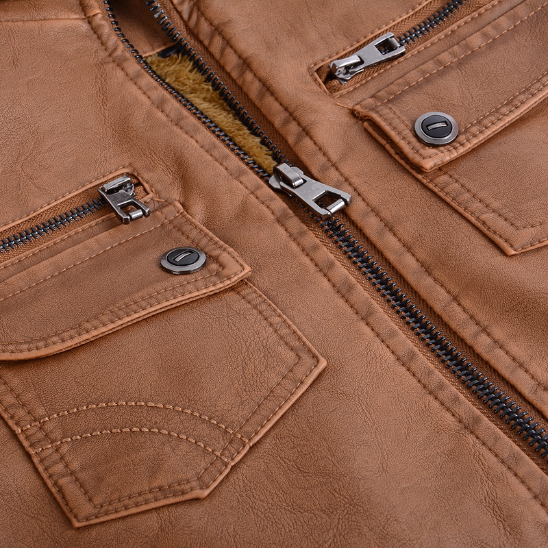 Hd1ac7fa9310a45029f3589e82f0860542 Luxury 2019 Leather Jackets Men Autumn Fleece Zipper Chaqueta Cuero Hombre Pockets Moto Jaqueta Masculino Couro Slim Warm Coat