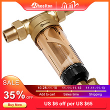 "Wheelton Water Pre Filter (WWP 02S) Carry Two Wipers Euro Standard Brass 30Years Lifitime Purifier Whole House 1/2""&3/4""&1 """
