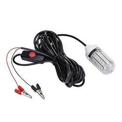 12V 15W lampa wędkarska 108 sztuk 2835 Led podwodne światło do wędkowania przynęty lokalizator ryb lampa przyciąga krewetki kalmary Krill w Światła podwodne od Lampy i oświetlenie na
