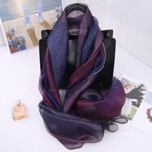 New Arrival Scarves Women 2019 Silk Wool Scarf For Lady Pashmina Echarpe Cape Shawls And Wraps Hijab Foulard Bandana Poncho