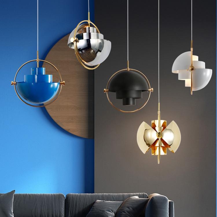 Nordic kronleuchter moderne einfache personalisierte bar LED einzigen kopf eisen schlafzimmer studie esszimmer flip Kronleuchter-in Pendelleuchten aus Licht & Beleuchtung bei title=