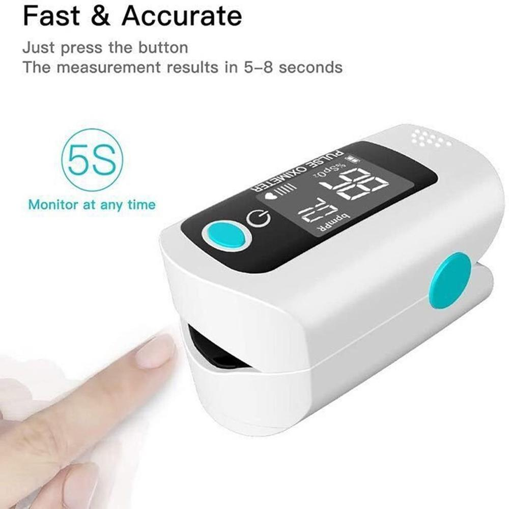 Fingertip Pulse Oximeter ABS Low Power Consumption Va Display Blood Oxygen Saturation Monitor Heart Rate Monitor