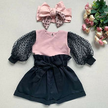Casual Kids Baby Girl Autumn Winter Clothes Lace Long Sleeve