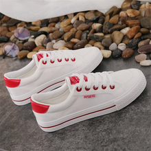 2020 Spring and summer new Korean fashion comfortable canvas women's shoes students white shoes casual board shoes wild plain little white shoes female spring 2020 new shoes students wild basic canvas shoes korean casual shoes daisy board shoes