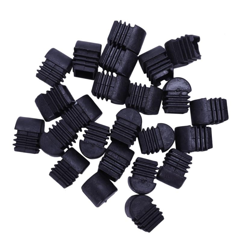 New-24 Pcs Square Multi-Gauge Insert Black 20mmx20mm For Box Section Tube
