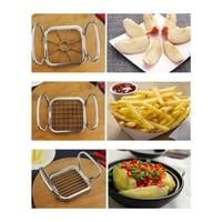 Vegetable Fruit Cutter Vegetable Fruit Slicer Cutter Potato Chips Cutter 5PCS Stainless Steel Vegetable Fruit Cutter Shred
