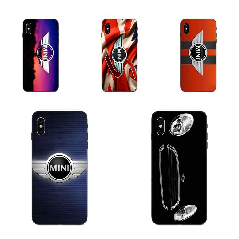 MINI COOPER Lencana Stiker Bom TPU Mobile Phone Case Cover untuk Apple Iphone 11 X XS Max XR Pro Max 4 4S 5 5S SE 6 6S 7 7 Plus