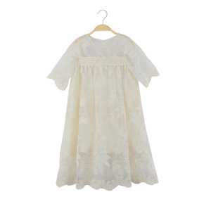Image 3 - Kids Lace Dress New Baby Girls Dresses 2020 New Children Summer Dress Toddler Part Clothes Embroidery Floral Beautiful,#5209