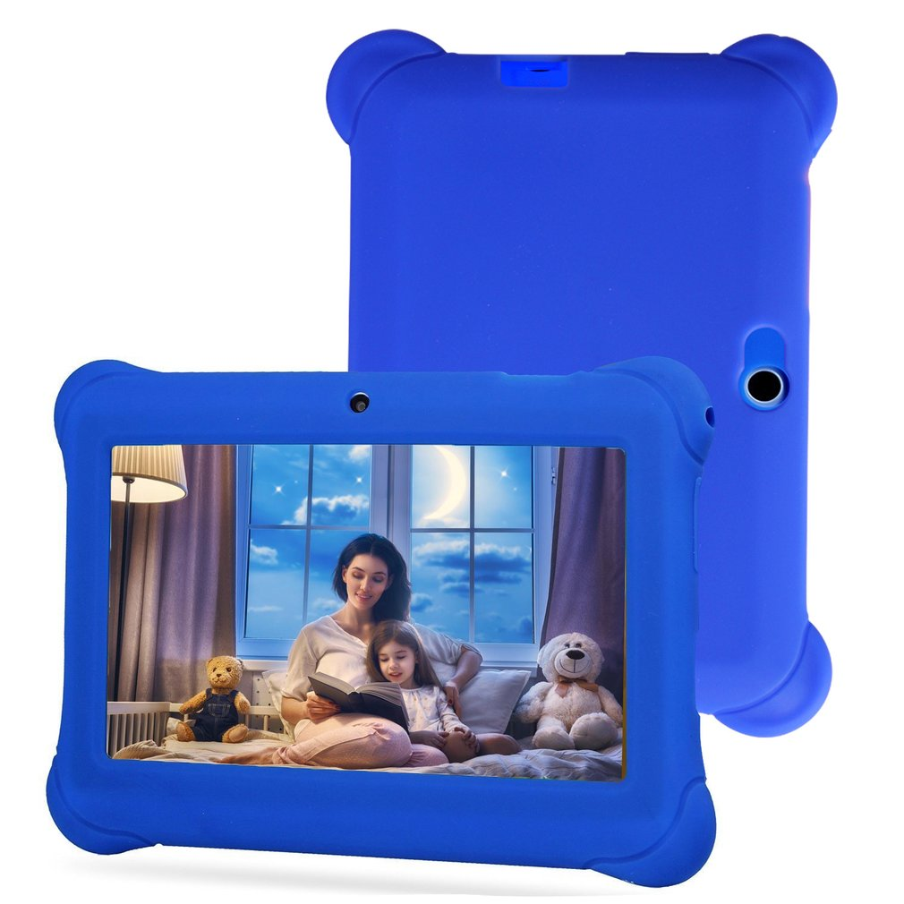7 Inch Children Tablet Q88 512M + 4G / 8G 30W + 30W With Silicone Sleeve Hot Sales Dropshipping