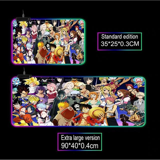 Фото большой игровой коврик для мыши mairuige с аниме персонажем