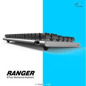 Image 5 - X Bows 87 Programmable CNC Case RGB Backlight Hotswap Hot Swap KB 6 Type C PCB Ranger MX Mechanical Keyboard Kit