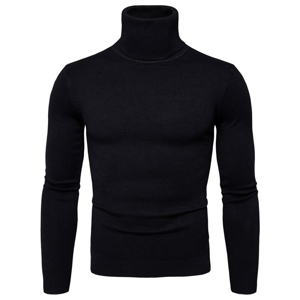 Winter High Neck Thick Warm Sweater Men
