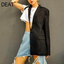 DEAT 2020 New Summer Fashion Sexy Irregular Black One-side S