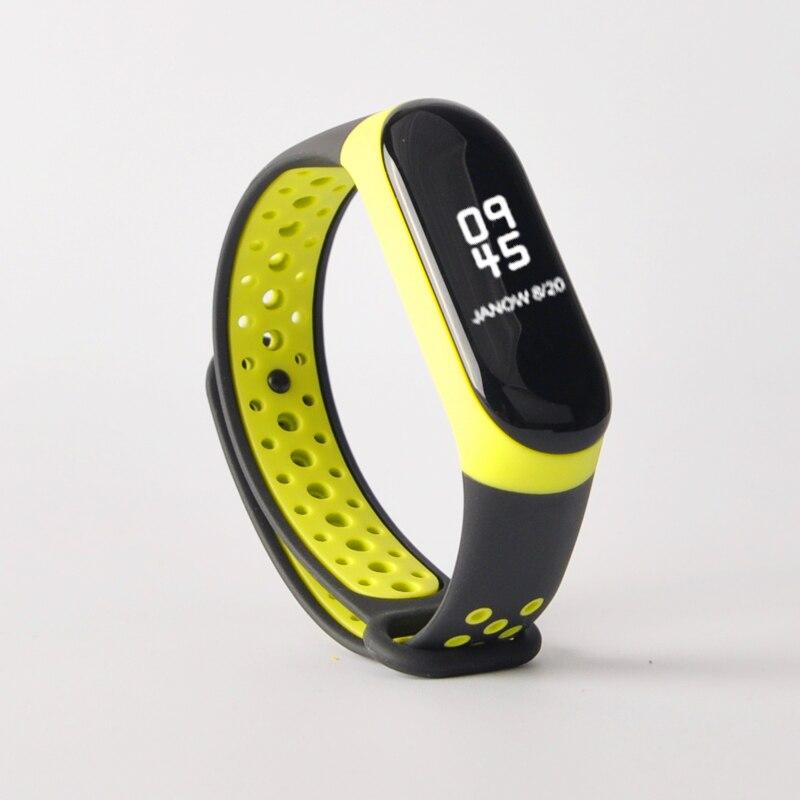 Para mi banda 3 4 cinta esporte silicone relógio de pulso pulseira mi band3 acessórios pulseira inteligente para xiao mi mi banda 3 4 cinta 6
