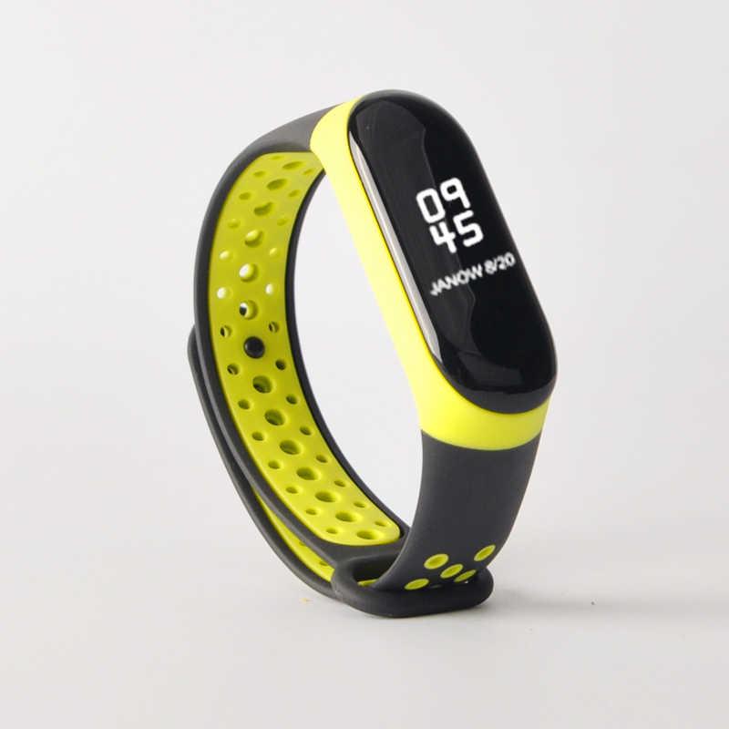 Für mi Band 3 4 strap sport Silikon uhr handgelenk Armband mi band3 strap zubehör armband smart für Xiao mi mi band 3 4 strap