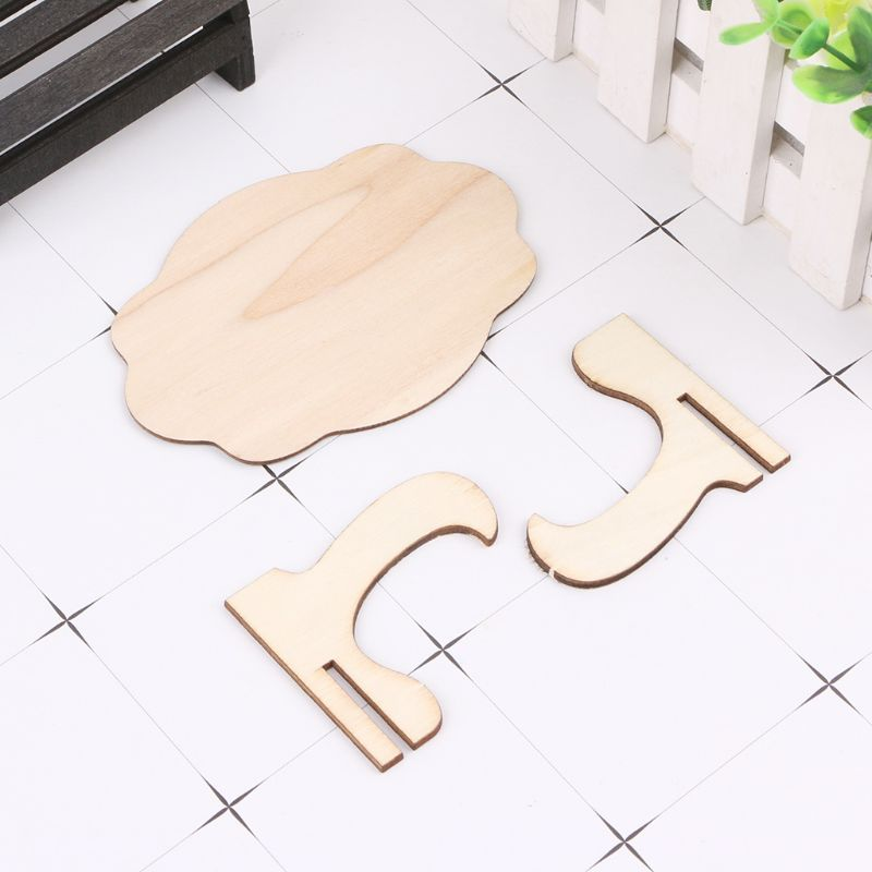 10pcs Wooden Mini Blackboard Cloud Shape Table Sign Memo Message Stand Chalk Board Wedding Party Decoration Supplies AXYF