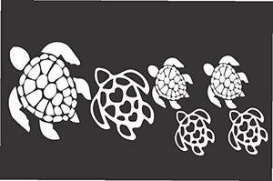 DAWASARU черепаха семья виниловая наклейка/наклейка подходит для автомобиля или грузовика креативный чехол царапины украшения аксессуары 10X20 ...