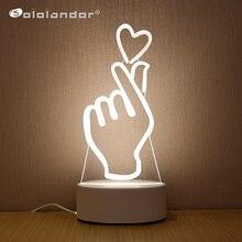 SOLOLANDOR 3D Светодиодная лампа, креативный 3D светодиодный светильник s, новинка, иллюзия, ночная лампа, 3D иллюзия, настольная лампа для дома, светильник
