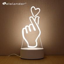 SOLOLANDOR 3DโคมไฟLED 3DไฟLEDกลางคืนNovelty Illusion Nightโคมไฟ3D Illusionตารางโคมไฟสำหรับตกแต่งบ้านlight