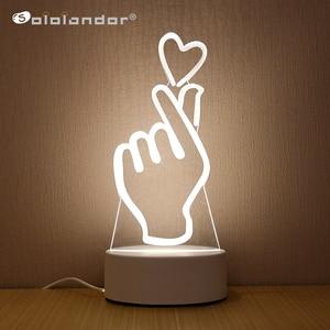 Image 1 - SOLOLANDOR 3D Đèn LED Sáng Tạo 3D LED Đèn Chiếu Sáng Ban Đêm Mới Lạ Ảo Ảnh Đèn Ngủ 3D Ảo Ảnh Đèn Bàn Cho Trang Trí Nhà ánh Sáng