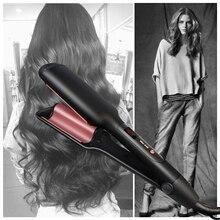Парикмахерская Плойка для завивки волос, утюжок для завивки волос, профессиональные керамические пластины, глубокий Вэйвер для роскошных волн, инструмент для укладки волос