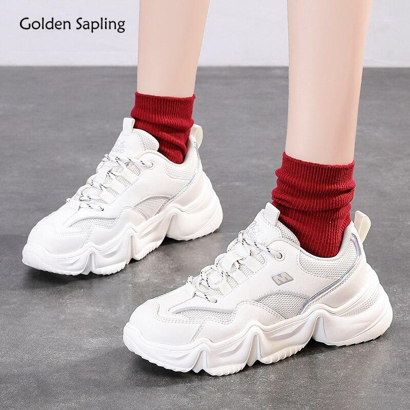 Golden Sapling Vintage Platform Sneakers Women Breathable 2020 Summer New Design Women's Sport Sneaker Fitness GYM Running Shoes