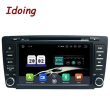 "Idoing 8 ""2Din רכב אנדרואיד 10 רדיו נגן לskodaoctavia 2 2009 2015 PX6 4G + 64G 8 Core IPS מסך TDA 7850 GPS Bluetooth 5.0"