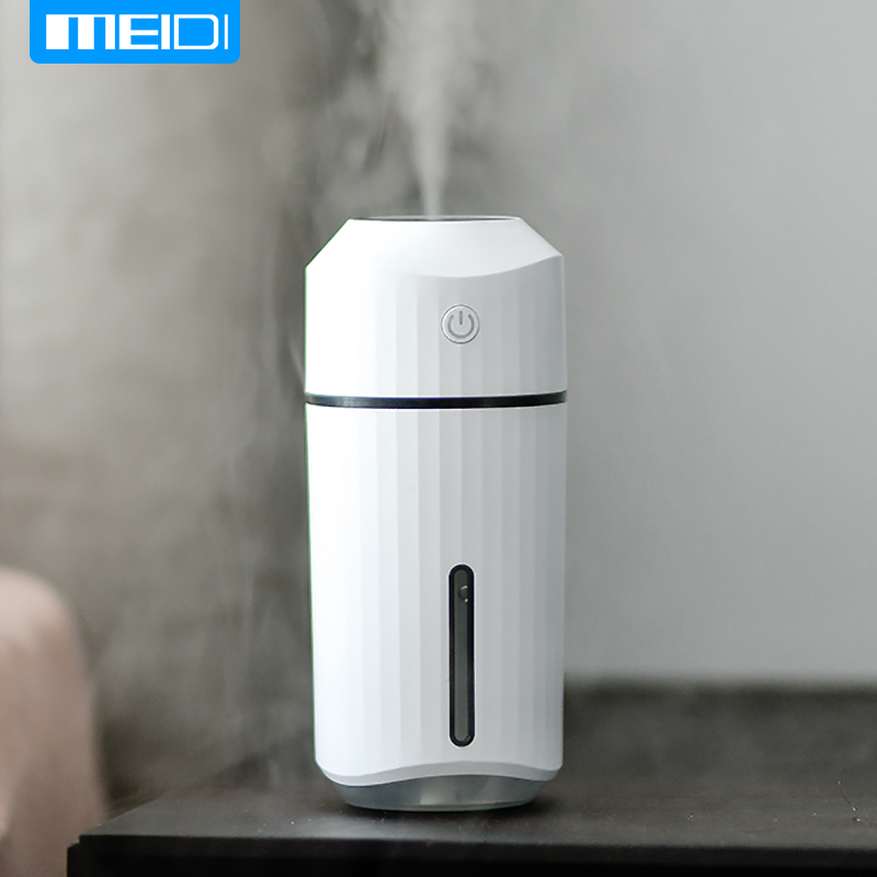MEIDI Humidifier In Car Aromatherapy Diffuser Portable USB Quiet Ultrasonic Aroma Cool Mist 7 Fascinating LED Night Lights