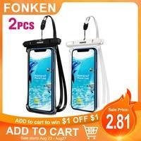Funda impermeable para teléfono móvil, bolsa seca de natación a prueba de agua, funda subacuática para iPhone 12 11 Pro Max8