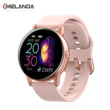 女性スポーツスマート腕時計メンズ LED 防水スマートウォッチ心拍数血圧歩数計腕時計時計アンドロイド Ios 用