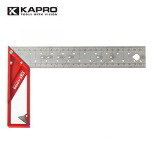 Kapro 25cm Multifunction Stainless Steel Metal Swanson Try Square Angle Marking Right Ruler For Joiner Carpenter Woodworking