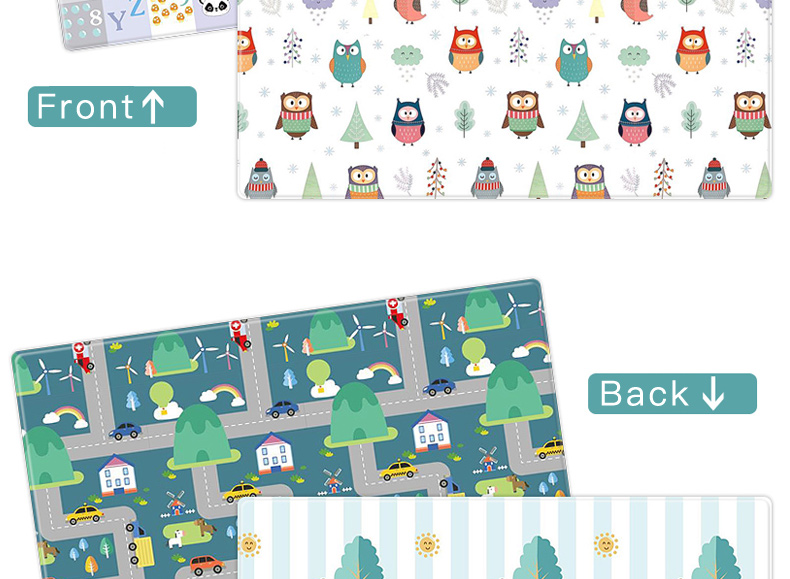Hd1ae7fb1cb484ae9b1b79614c341f469S Miamumi Portable Baby Play Mat XPE Foam Double Sided Playmat Home Game Puzzle Blanket Folding Mat for Infants Kids' Carpet Rug