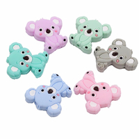 New 100Pcs baby supplies dental pendant toy teether food grade soft and secure mini koala