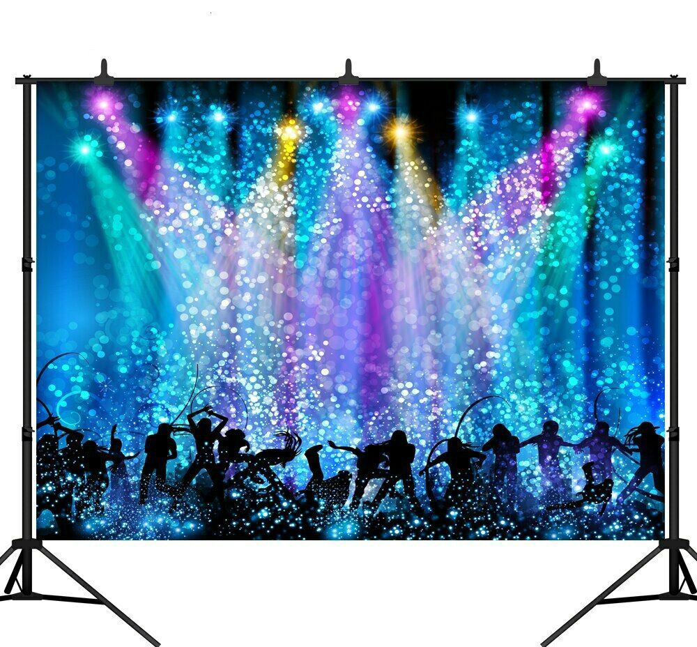 Photography Backdrop Disco Party Music Dance Light Carnival Photo Background image