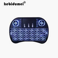3 Color Backlit I8 Mini Russian Wireless Keyboard Mouse 2.4ghz USB Keyboard for Laptop Smart TV Box English With Touchpad