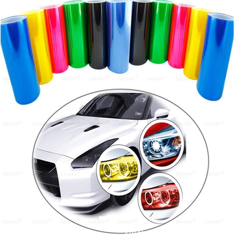 Car Tint Headlight Taillight Fog Light Vinyl Smoke Film Sheet Sticker Cover Automobiles Decal Car Styling 30cm X 60cm TSLM1