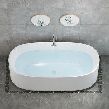 Aojin acrílico banheira família banheiro europeu simples 1500mm independente grande banheira