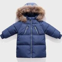 Kids Coat Clothing 2019 New Children's Down Outerwear Long Children's Wear Fur Collar Down Coats Boys Girls Baby Thick Coat