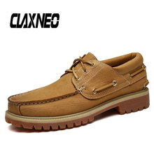 CLAXNEO Man Boat Shoes Genuine Leather Casual Footwear Male Autumn Boot Clax Mens Shoe Big Size