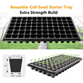 10Pcs Cells Seedling Starter Tray Extra Strength Seed Germination Plant Flower Pots Nursery Grow Box Propagation For Gardening